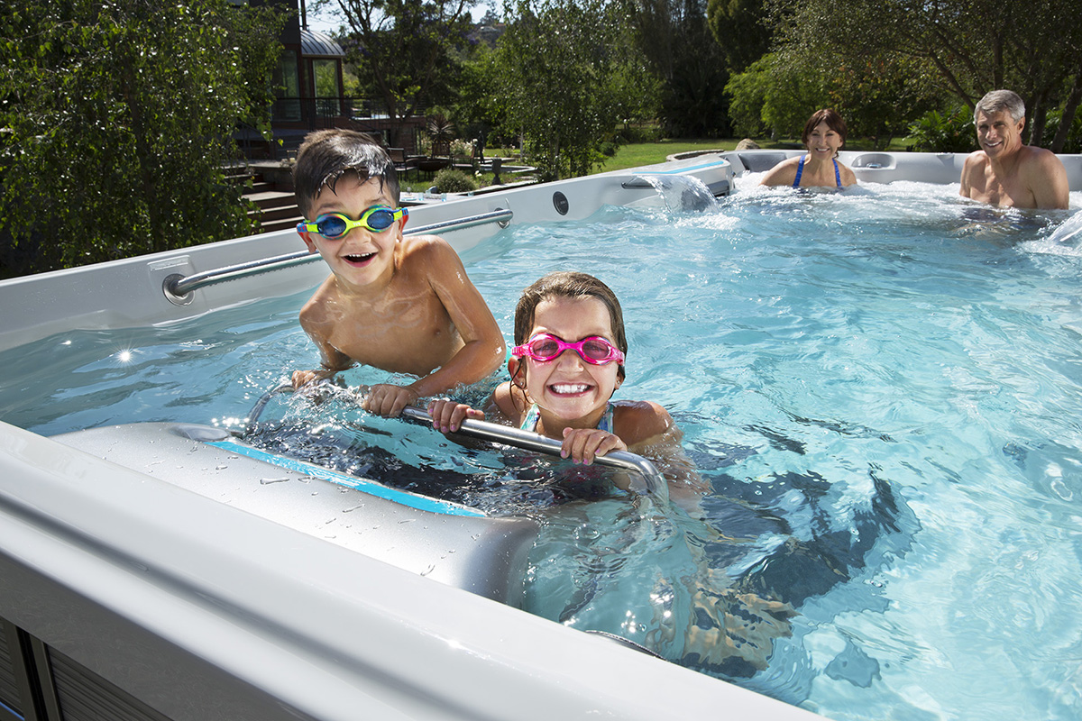 Family time in the Endless Pools Fitness Systems