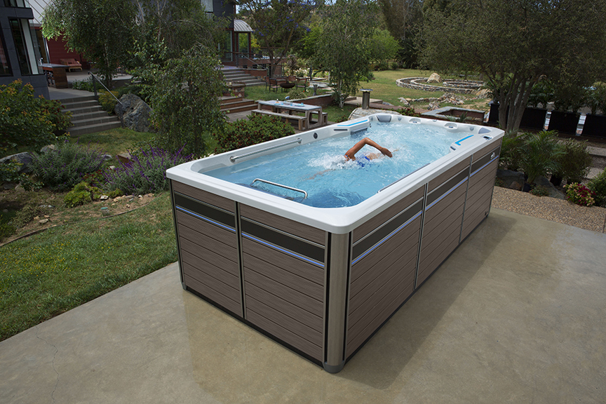 E700 Swim Spa With Optional Treadmill Endless Pools Fitness Systems